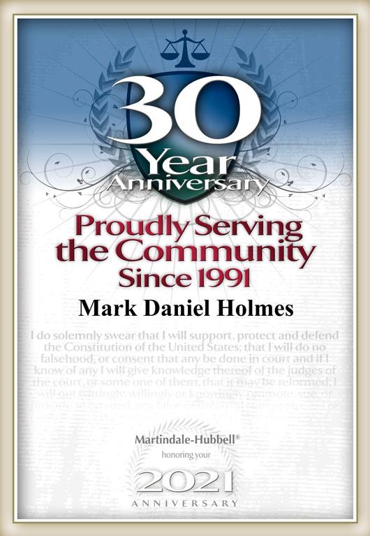 Mark D. Holmes - 30 Year Anniversary - Business Attorney Orange County, CA