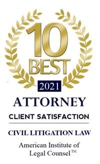 10 Best Attorneys Client Satisfaction - Civil Litigation